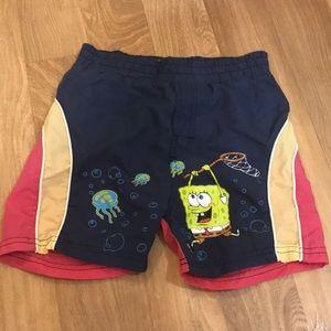Spongebob Swim Trunks Size 4
